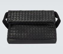 Messenger Bag aus Intrecciato-Leder