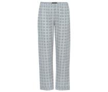Bedruckte Pyjamahose aus Seiden-Twill