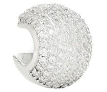 Einzelner Ear Cuff Encrusted Sphere 15 aus Sterlingsilber