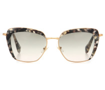 Cat-Eye-Sonnenbrille mit Acetatrahmen