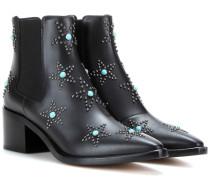 Ankle Boots Starstudded aus Leder