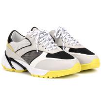 Sneakers Tech Runner aus Leder