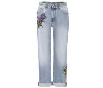 Jeans mit Kristallverzierung