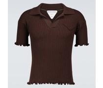 Gestricktes Poloshirt aus Wolle
