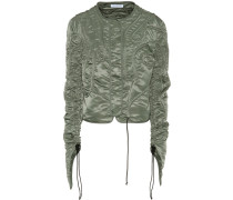 Cropped-Jacke mit Kordeln