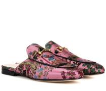 Slippers Princetown aus Brokat