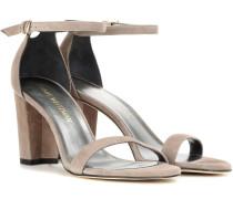Sandaletten Nearlynude aus Veloursleder