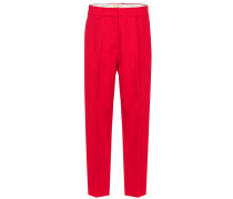 Cropped-Hose The Catherine aus Baumwoll-Twill