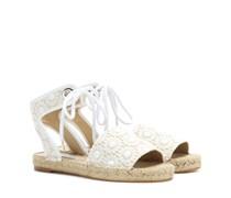 Espadrille-Sandalen aus Häkelspitze