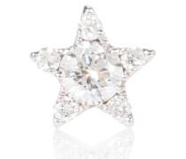 Einzelner Ohrring Diamond Star aus 18kt Weißgold