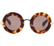 Sonnenbrille mit rundem Azetatrahmen