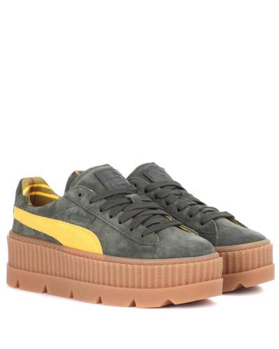 Sneakers Cleated Creeper aus Veloursleder