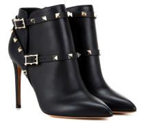 Ankle Boots Rockstud aus Leder