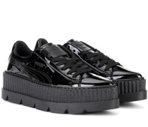 Sneakers Pointy Creeper aus Lackleder