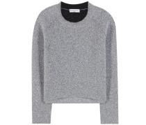 Cropped-Pullover aus Lurex