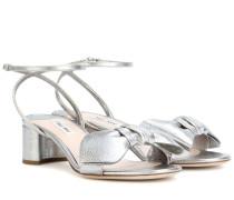 Sandaletten aus aus Metallic-Leder