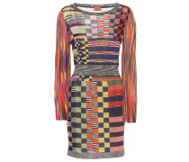 Gemustertes Kleid mit Metallic-Fäden