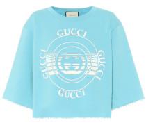 Cropped-Sweatshirt aus Baumwolle