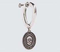 Einzelner Ohrring Medaillon Skull