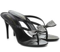 Verzierte Sandalen Lexi 90 aus Leder