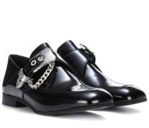 Loafers aus Leder mit Schnalle