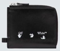 Logo-Portemonnaie aus Leder
