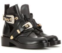 Leder-Boots Ceinture mit Cut-outs
