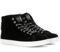 Sneakers High Loft aus Samt