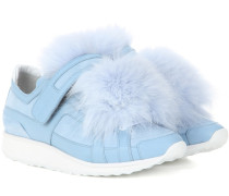 Sneakers Fox Runner aus Leder und Veloursleder