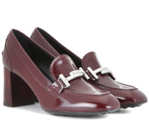 Loafers-Pumps Double T aus Leder