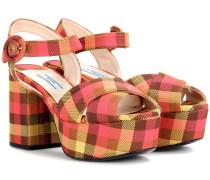 Sandaletten mit Karomuster