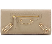 Portemonnaie Classic Metallic Edge Money aus Leder