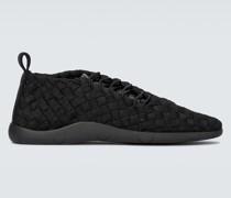 Sneakers mit Intrecciato-Motiv