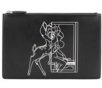 Clutch Iconic Print Bambi® aus Leder