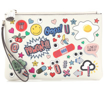 Clutch All Over Stickers aus Leder
