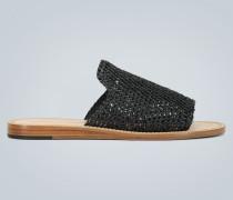 Sandalen aus Raffiabast