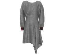Asymmetrisches Kleid aus Wolle und Seide