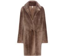 Wendbarer Mantel aus Lammfell
