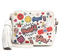 Crossbody-Tasche All Over Wink Stickers aus Leder