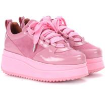 Plateau-Sneakers Edel aus Leder