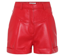 Shorts aus Lederimitat