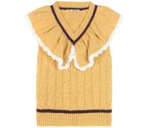 Pullunder aus Wolle mit Rüschen