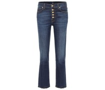 High-Rise Cropped Jeans The Straight