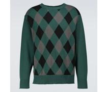 Jacquard-Pullover aus Baumwolle