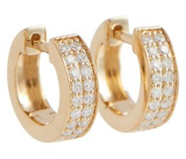 Creolen Huggie aus 14kt Gelbgold mit Diamanten