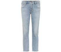 Mid-Rise Slim Cropped Jeans Elsa