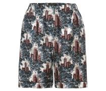 Bedruckte Pyjamashorts aus Seiden-Twill