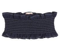 Gerafftes Bandeau-Top aus Baumwolle