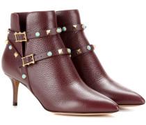 Garavani Ankle Boots Rockstud Rolling aus Leder