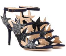 Sandalen Twinkle Toes aus Veloursleder mit Glitter